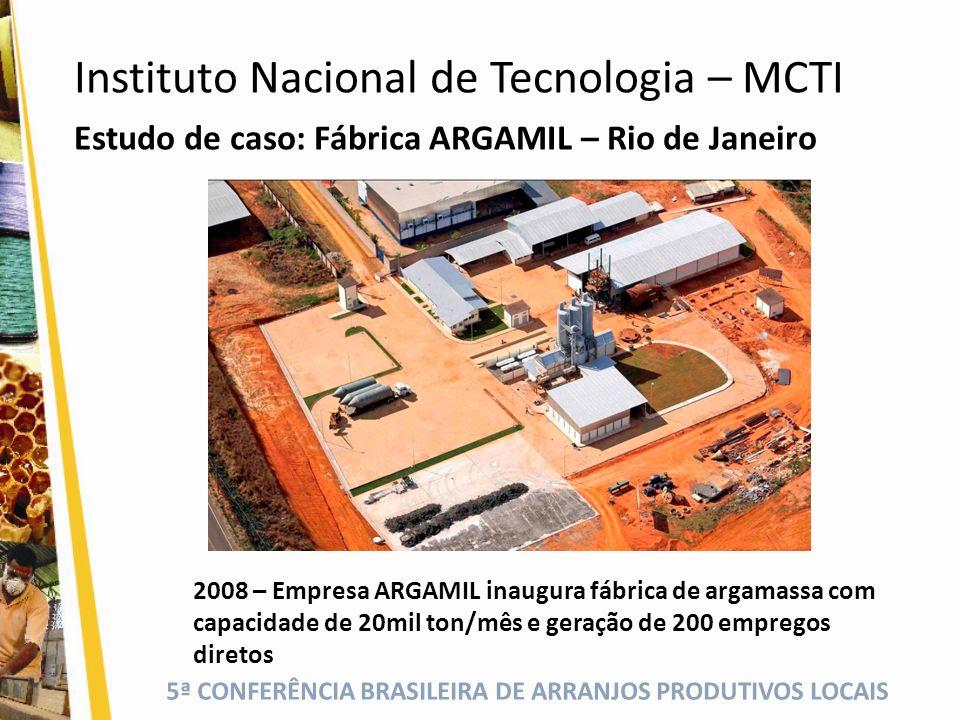 5ª CONFERÊNCIA BRASILEIRA DE ARRANJOS PRODUTIVOS LOCAIS Estudo de caso: Fábrica ARGAMIL – Rio de Janeiro 2008 – Empresa ARGAMIL inaugura fábrica de ar