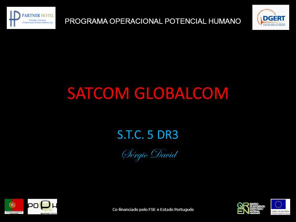 SATCOM GLOBALCOM S.T.C. 5 DR3 Sérgio David PROGRAMA OPERACIONAL POTENCIAL HUMANO Co-financiado pelo FSE e Estado Português