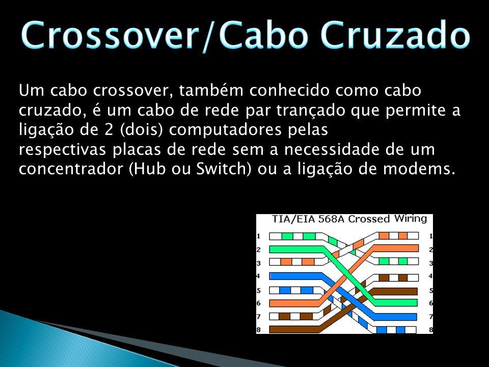 Um cabo crossover, também conhecido como cabo cruzado, é um cabo de rede par trançado que permite a ligação de 2 (dois) computadores pelas respectivas