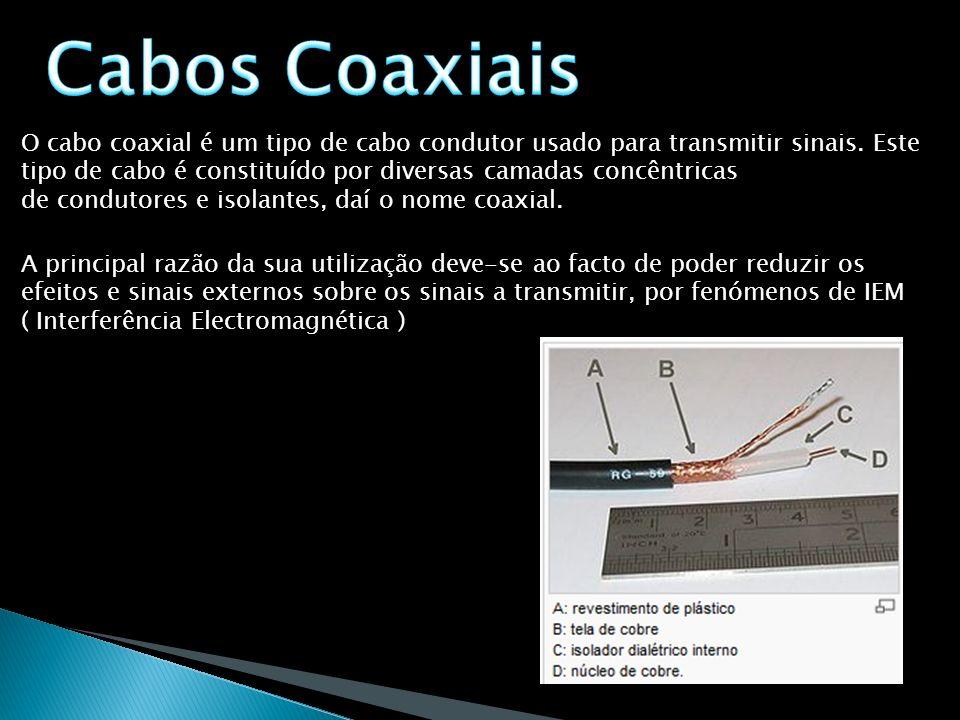 O cabo coaxial é um tipo de cabo condutor usado para transmitir sinais. Este tipo de cabo é constituído por diversas camadas concêntricas de condutore