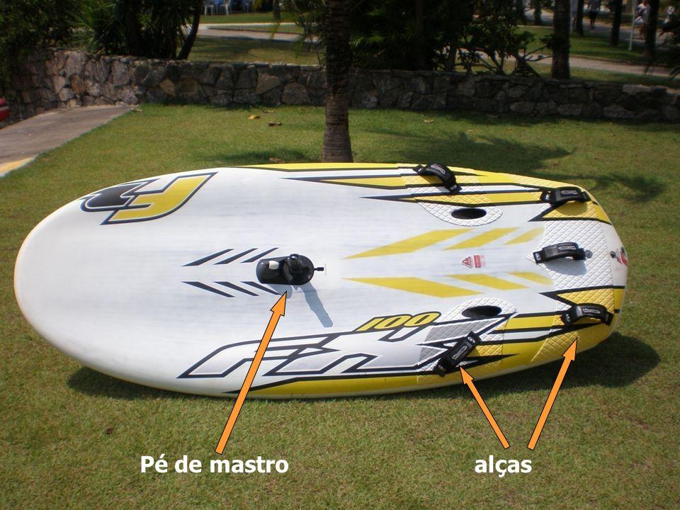 Manobras Cambada – Manobra em que a proa da prancha cruza a linha do vento e se afasta do vento 45º.