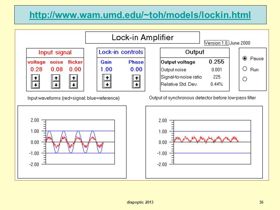 36 http://www.wam.umd.edu/~toh/models/lockin.html dispoptic 2013