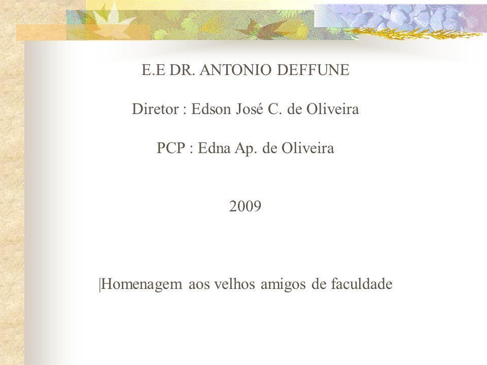 E.E DR.ANTONIO DEFFUNE Diretor : Edson José C. de Oliveira PCP : Edna Ap.