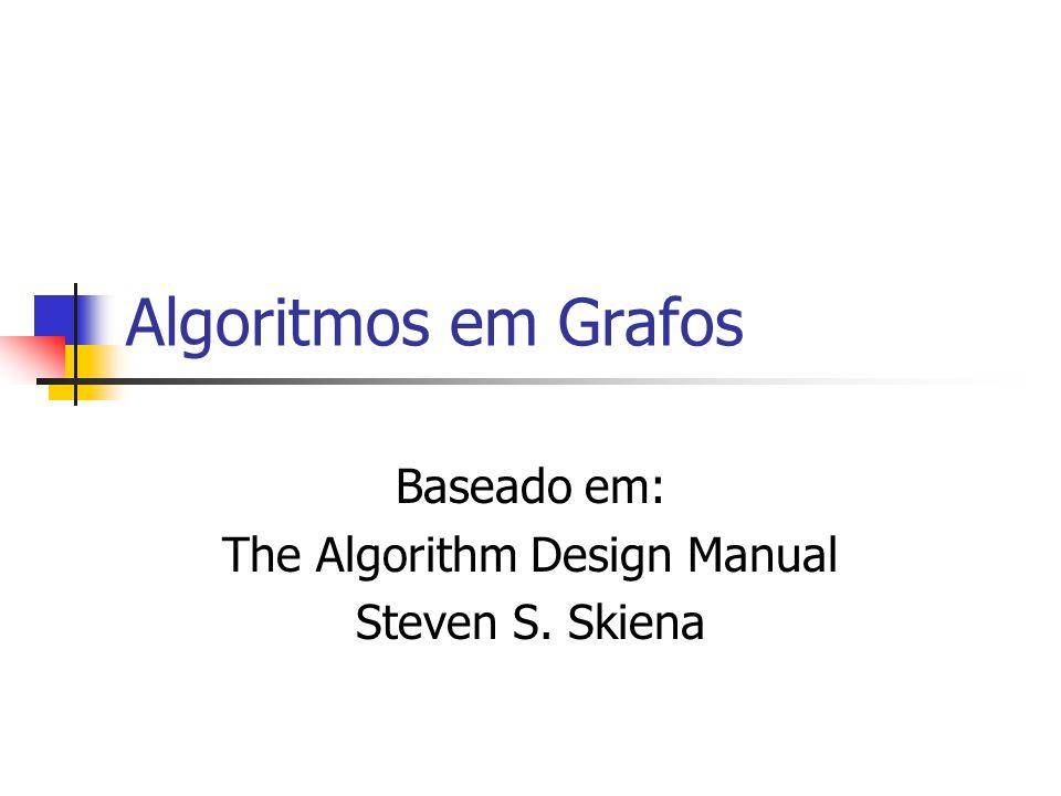 Algoritmos em Grafos Baseado em: The Algorithm Design Manual Steven S. Skiena