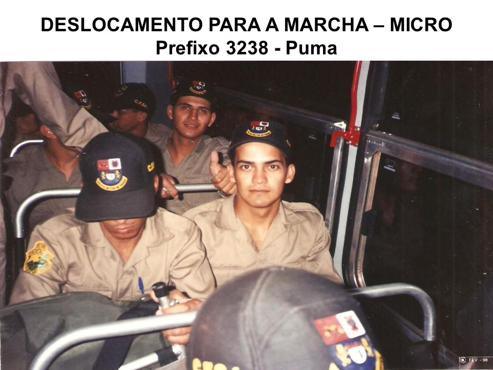 DESLOCAMENTO PARA A MARCHA – MICRO Prefixo 3238 - Puma