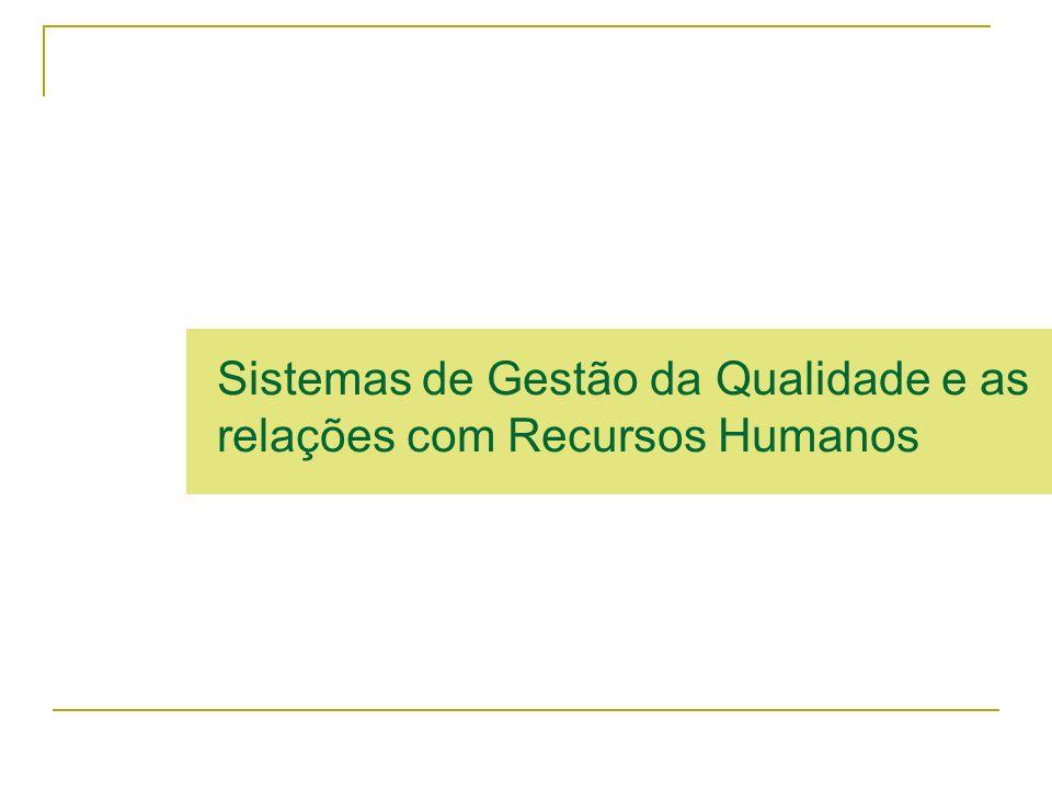Sistemas de Gestão da Qualidade e as relações com Recursos Humanos