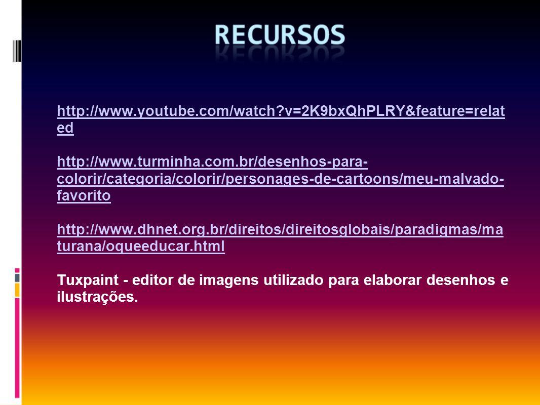 http://www.youtube.com/watch?v=2K9bxQhPLRY&feature=relat ed http://www.turminha.com.br/desenhos-para- colorir/categoria/colorir/personages-de-cartoons