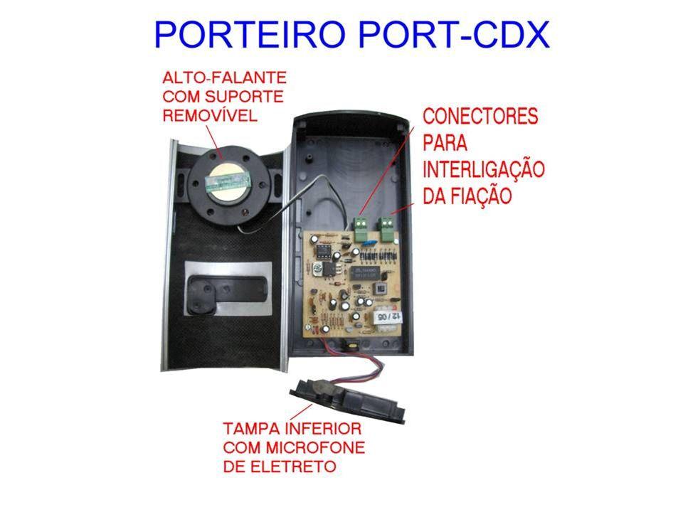 Port-PhoneI/Port-CDX CARACTERÍSTICAS -MATERIAL PLÁSTICO DE ALTO IMPACTO -DESIGN MODERNO E ARROJADO -PROTETOR DE CHUVA