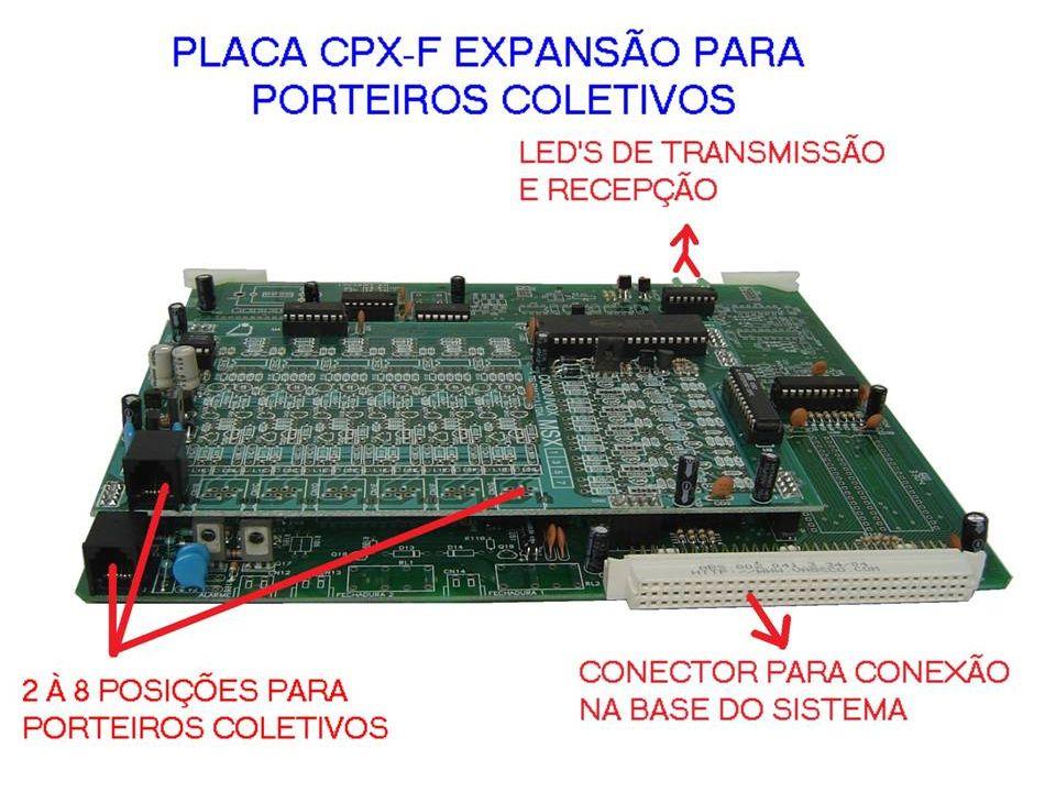 CPX-F - POSSIBILITA AMPLIAÇÃO DE PORT-MIX - OCUPA SLOT DE PLACA RAMAL