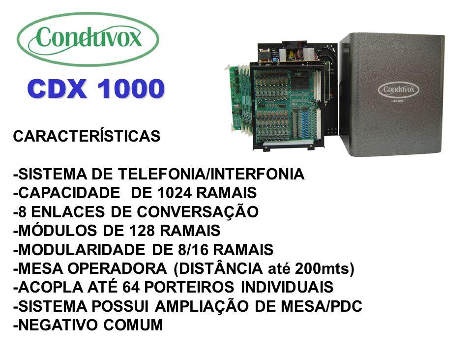 OPCIONAL -ESTAS PLACAS PERMITEM INTERLIGAR OS MODULOS DA CENTRAL CDX 2000 A ATÉ 800MT - AS PLACAS PODEM SER DE 8 OU 16 ENLACES ENX-A ENX-B CDX 2000