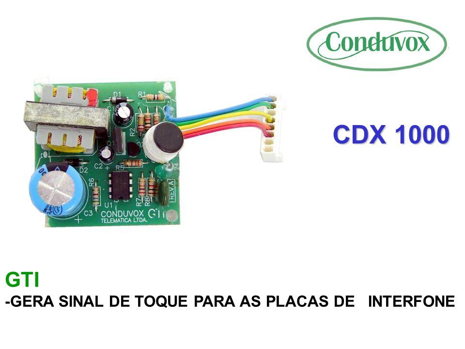 CDX 1000 CARACTERÍSTICAS -SISTEMA DE TELEFONIA/INTERFONIA -CAPACIDADE DE 1024 RAMAIS -8 ENLACES DE CONVERSAÇÃO -MÓDULOS DE 128 RAMAIS -MODULARIDADE DE