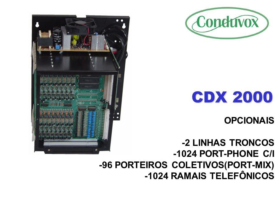CDX 2000 FACILIDADES -TRANSFERÊNCIA DE LIGAÇÕES TELEFÔNICAS PARA APARTAMENTOS -BLOQUEADOR DE LIGAÇÕES TELEFÔNICAS -LIBERAÇÃO DE 20 NUMEROS ESPECÍFICOS