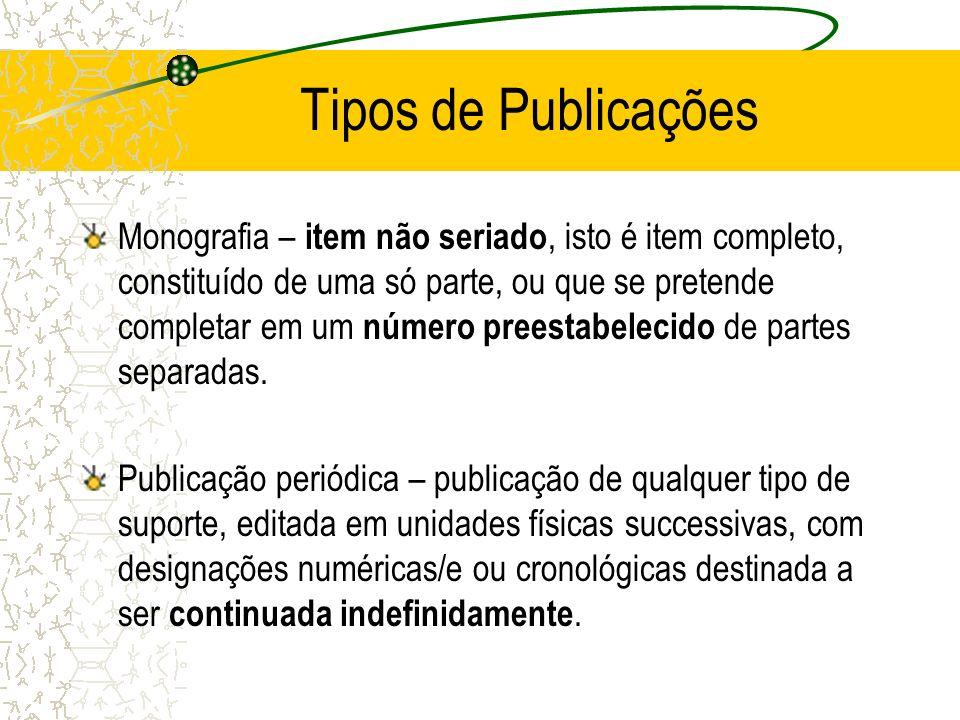 Elementos Textuais Os elementos textuais não obdecem regras da ABNT, para cada área existirão regras e necessidades diferentes.
