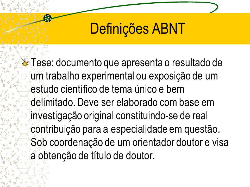 Referências (obrigatório) Conforme ABNT NBR 6023 –Veremos posteriormente em detalhes.