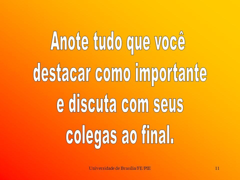 Universidade de Brasília/FE/PIE11