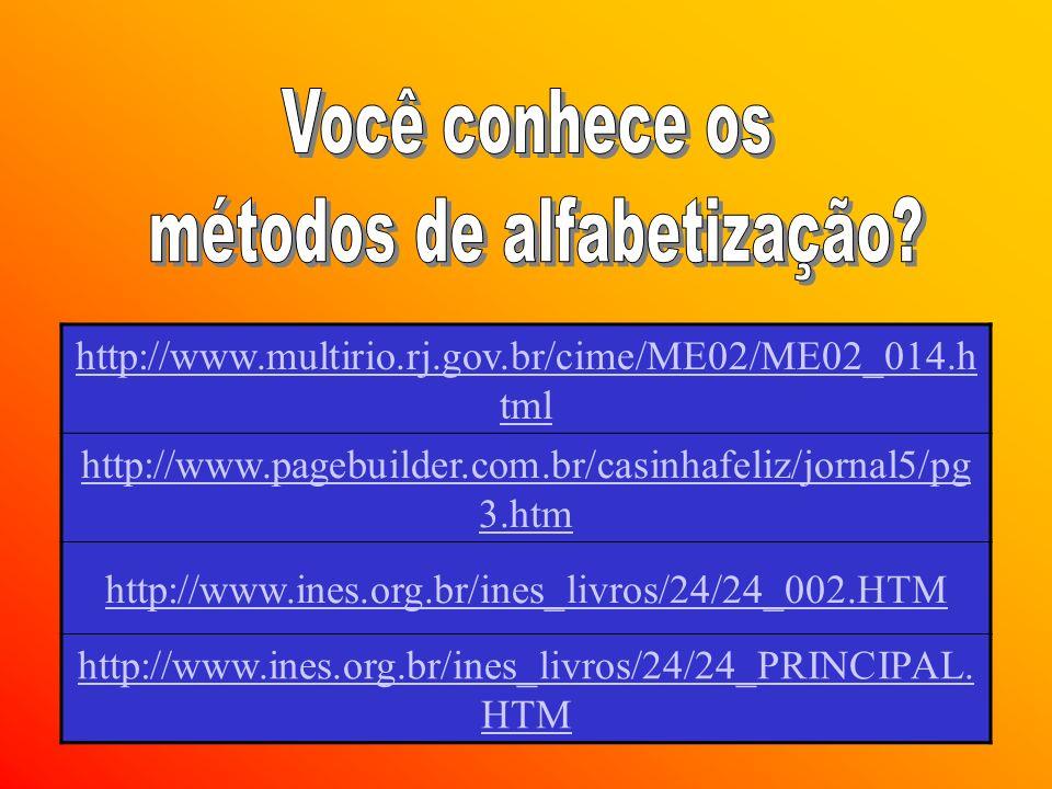 Universidade de Brasília/FE/PIE9 http://www.multirio.rj.gov.br/cime/ME02/ME02_014.h tml http://www.pagebuilder.com.br/casinhafeliz/jornal5/pg 3.htm http://www.ines.org.br/ines_livros/24/24_002.HTM http://www.ines.org.br/ines_livros/24/24_PRINCIPAL.