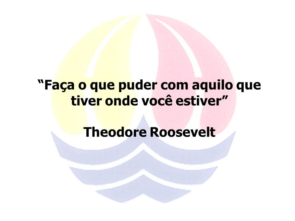 Faça o que puder com aquilo que tiver onde você estiver Theodore Roosevelt