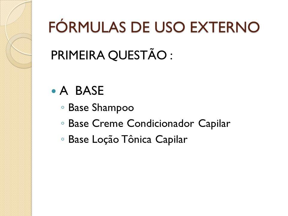 FÓRMULAS DE USO EXTERNO PEDIATRIA Shampoo para Pediculose Coleus forskolii – tintura – 2% Ruta graveolens – tintura -2% Mommordica charanthia – tintura - 2% Base Shampooqsp 200 ml Piôi.