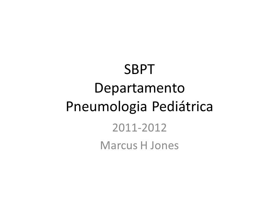 SBPT Departamento Pneumologia Pediátrica 2011-2012 Marcus H Jones