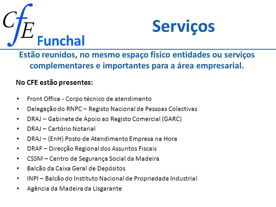 Assegura: Instalações e equipamentos Recursos Humanos Estrutura Administrativa Despesas de funcionamento Entidade Hospedeira Funchal