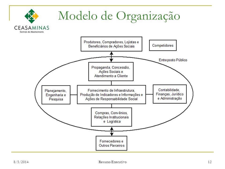 8/5/2014 Resumo Executivo 12 Modelo de Organização
