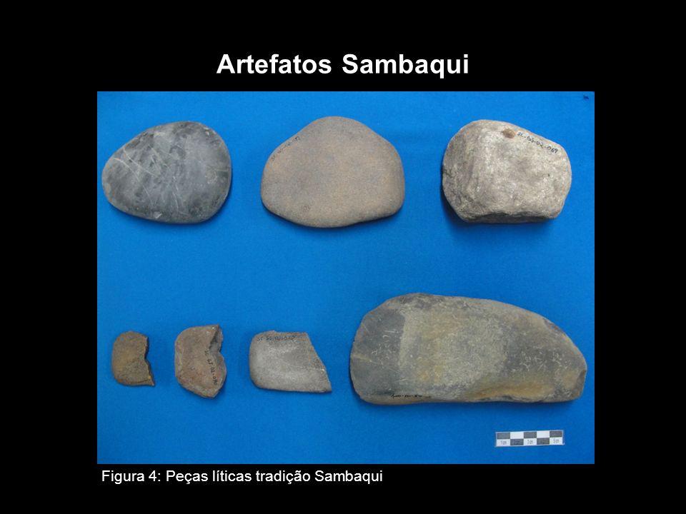 Artefatos Sambaqui Figura 4: Peças líticas tradição Sambaqui