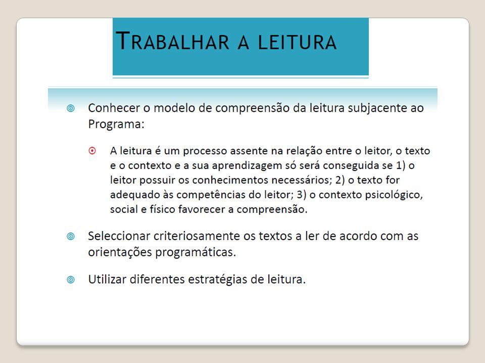 A sua constituição à luz dos Novos Programas de Português do Ensino Básico