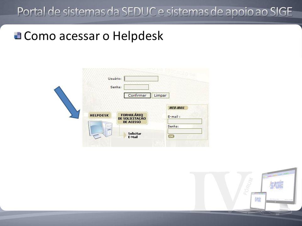 Como acessar o Helpdesk