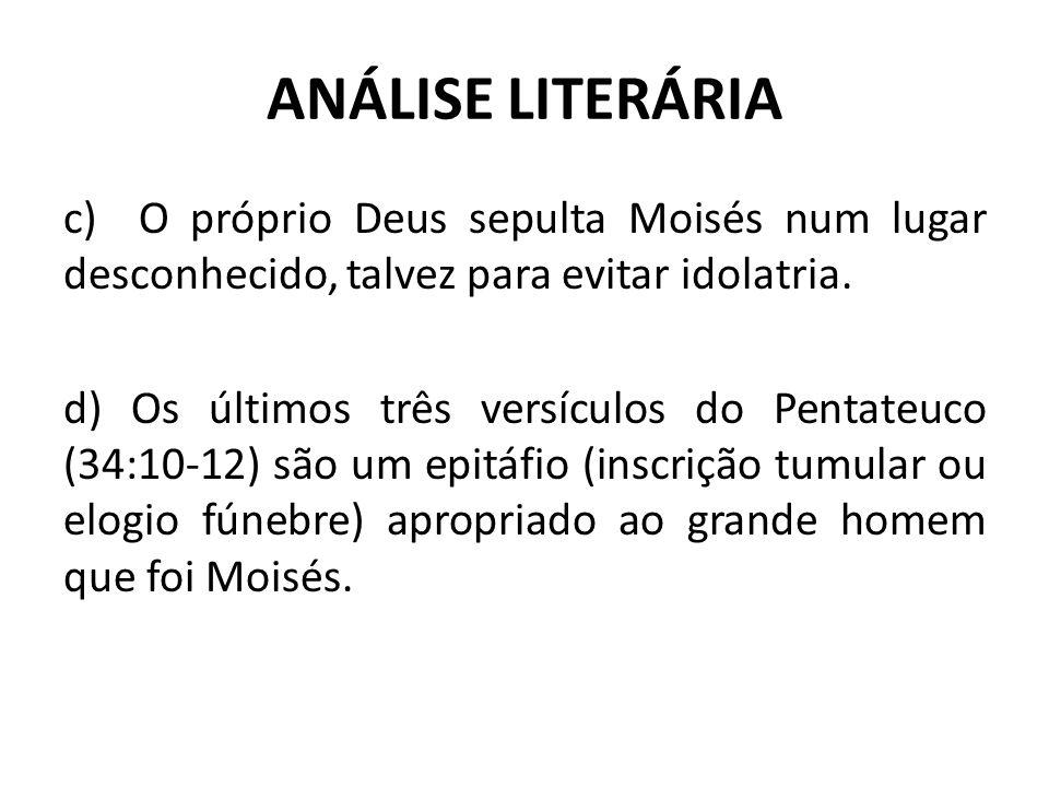 ANÁLISE LITERÁRIA II – DEUTERONÔMIO COMO TRATADO