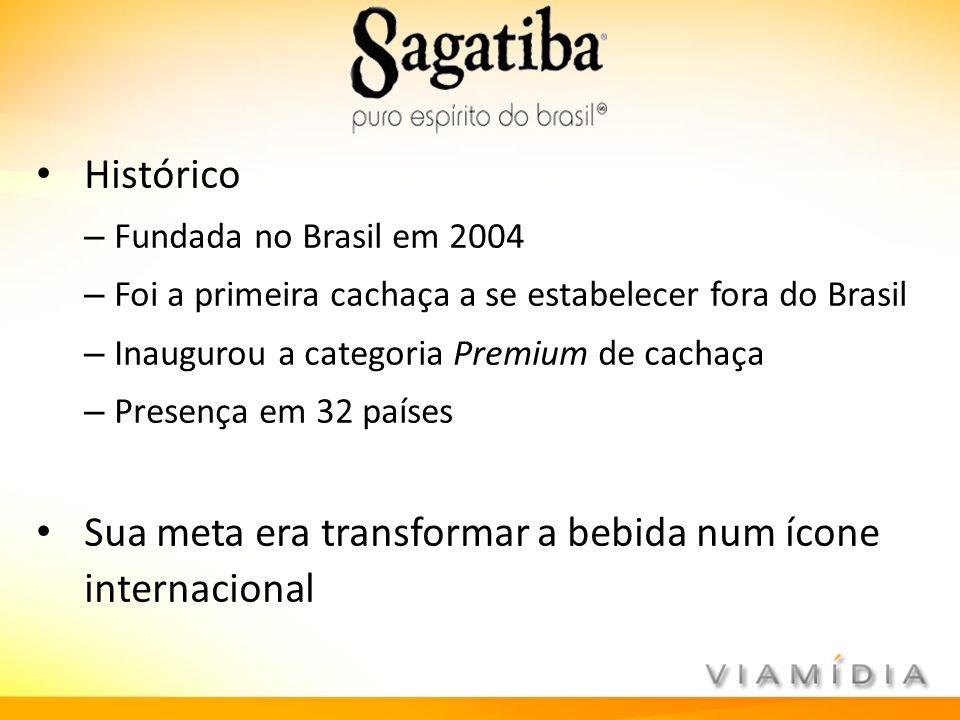 Histórico – Fundada no Brasil em 2004 – Foi a primeira cachaça a se estabelecer fora do Brasil – Inaugurou a categoria Premium de cachaça – Presença e