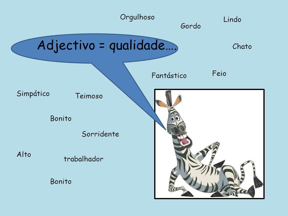 Agora que já sabes o que são os adjectivos completa as seguintes frases com adjectivos apropriados… Ela é___________.
