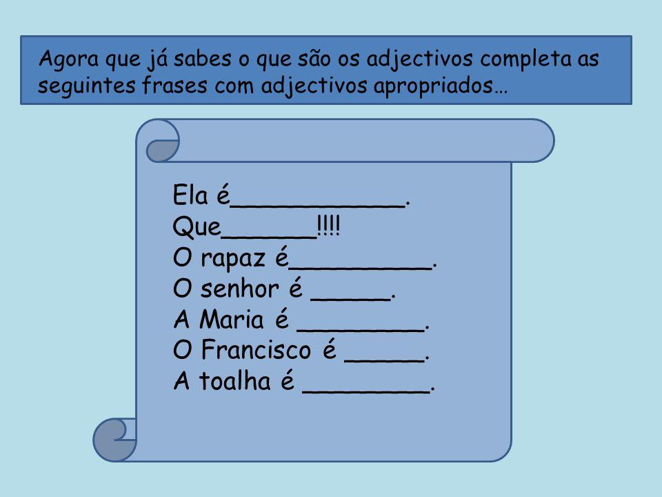 Os adjectivos variam em….