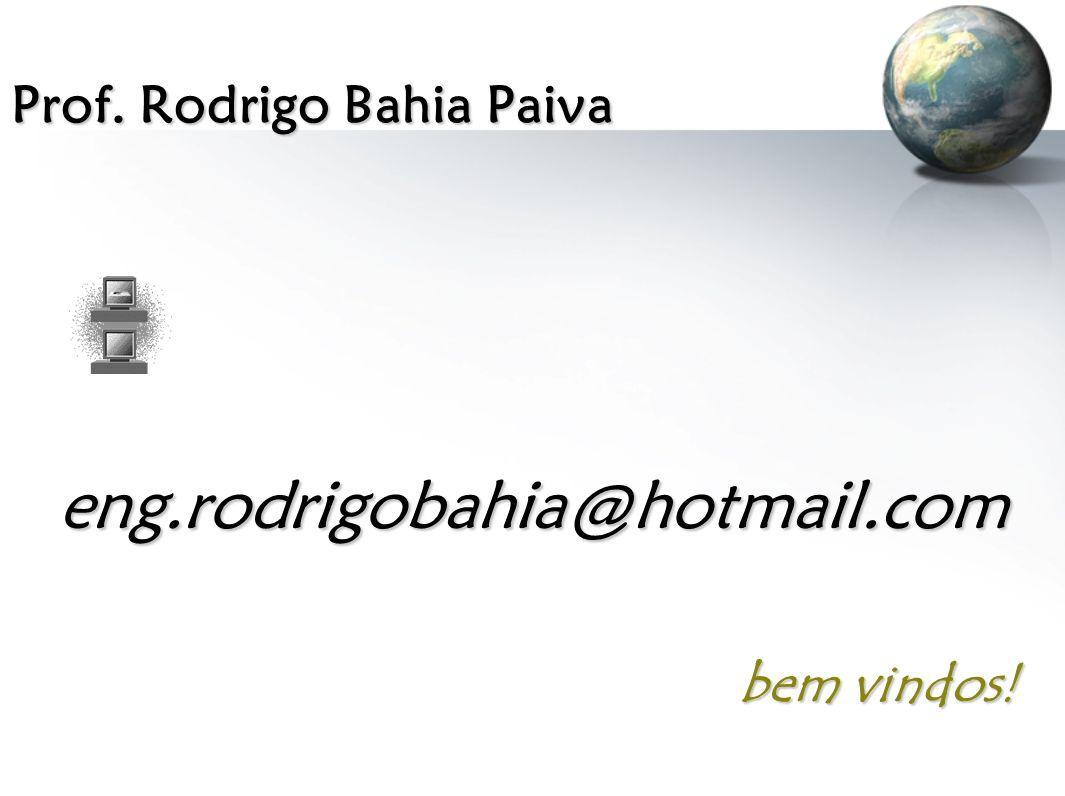Prof. Rodrigo Bahia Paiva eng.rodrigobahia@hotmail.com bem vindos!