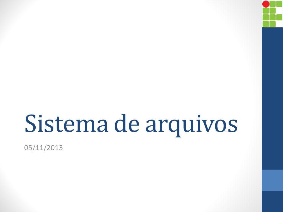 Sistema de arquivos 05/11/2013