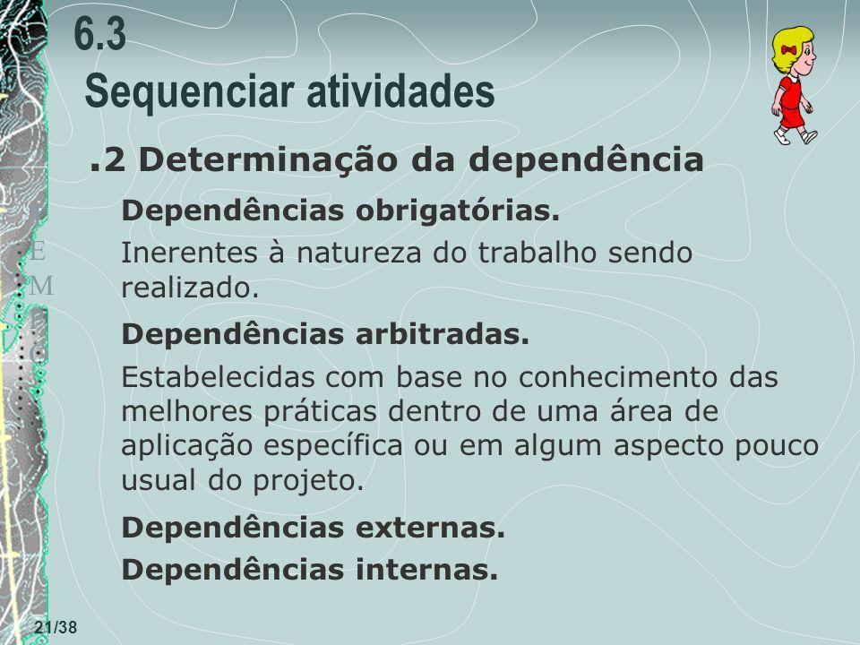 TEMPOTEMPO 21/38 6.3 Sequenciar atividades.