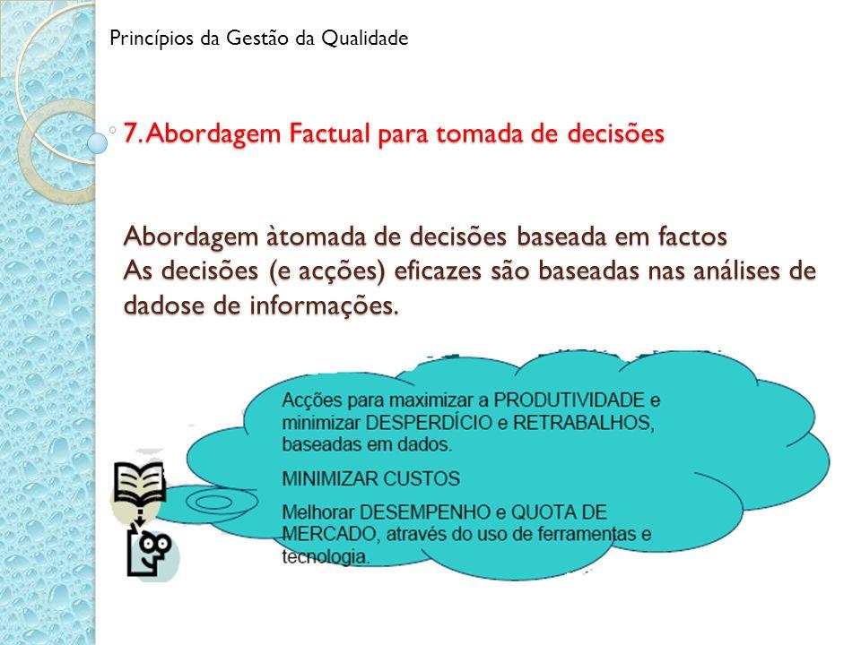 7. Abordagem Factual para tomada de decisões Abordagem àtomada de decisões baseada em factos As decisões (e acções) eficazes são baseadas nas análises