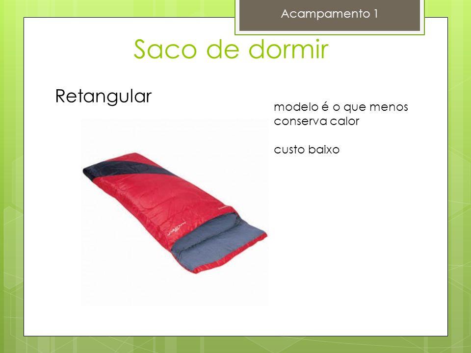 Saco de dormir Acampamento 1 Retangular modelo é o que menos conserva calor custo baixo
