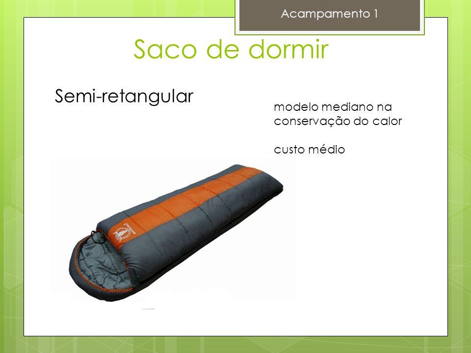 Saco de dormir Acampamento 1 Semi-retangular modelo mediano na conservação do calor custo médio