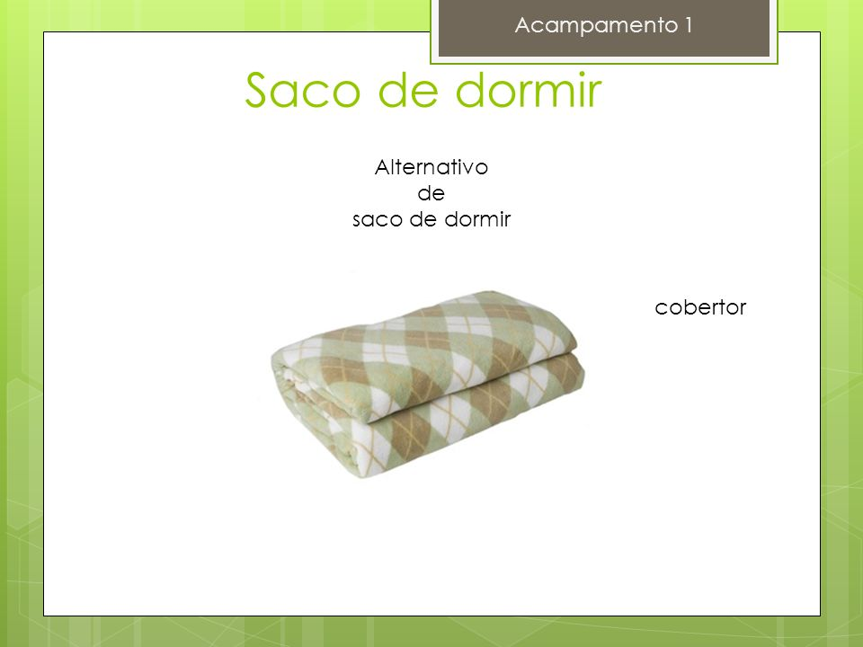 Saco de dormir Acampamento 1 Alternativo de saco de dormir cobertor