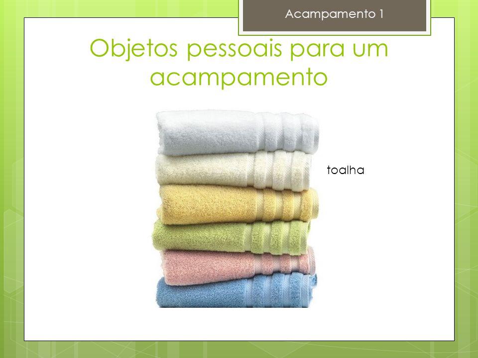 Objetos pessoais para um acampamento Acampamento 1 toalha