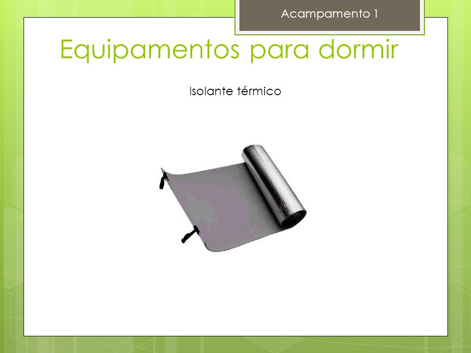 Equipamentos para dormir Acampamento 1 Alternativo de Isolante térmico papelão