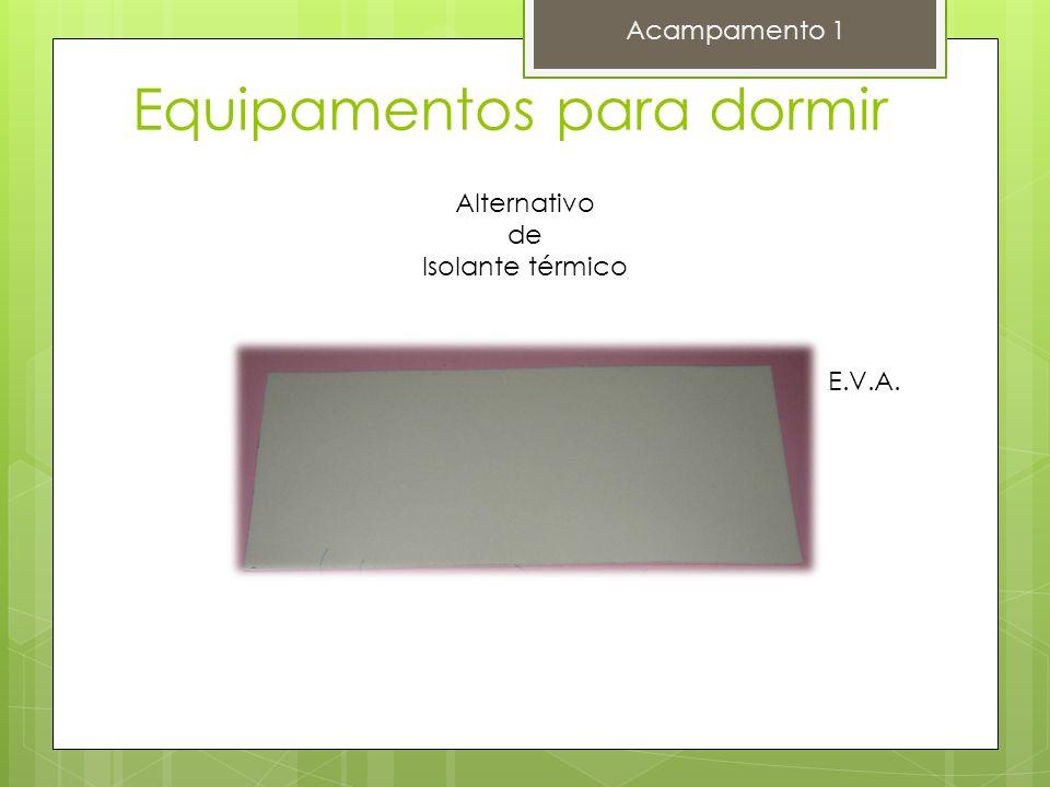 Equipamentos para dormir Acampamento 1 Alternativo de Isolante térmico E.V.A.