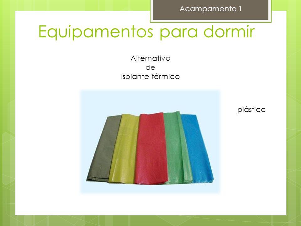 Equipamentos para dormir Acampamento 1 Alternativo de Isolante térmico saco de lixo