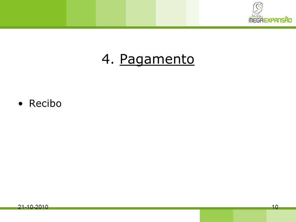 4. Pagamento Recibo 1021-10-2010
