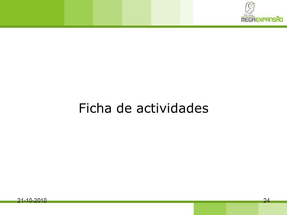 Ficha de actividades 2421-10-2010