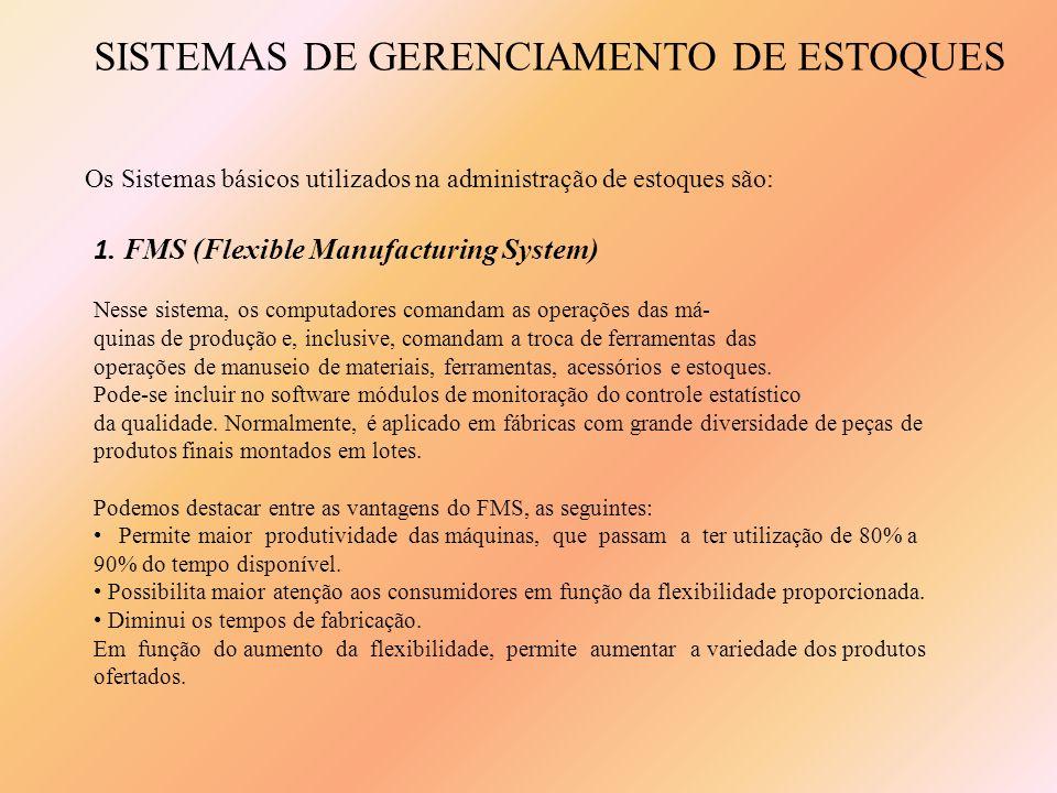 1. FMS (Flexible Manufacturing System) Nesse sistema, os computadores comandam as operações das má- quinas de produção e, inclusive, comandam a troca