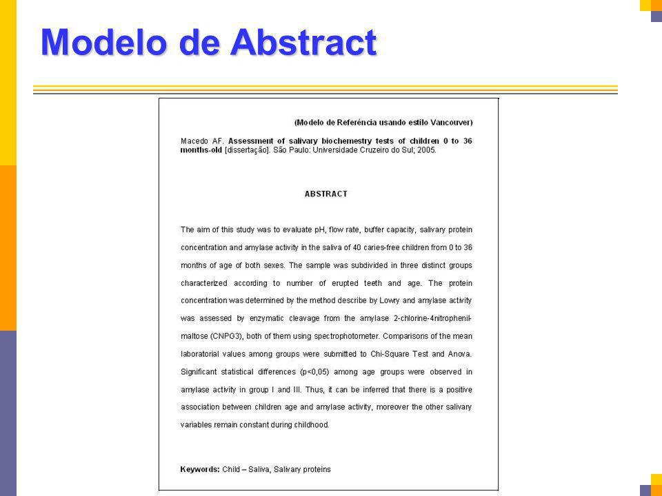 Modelo de Abstract
