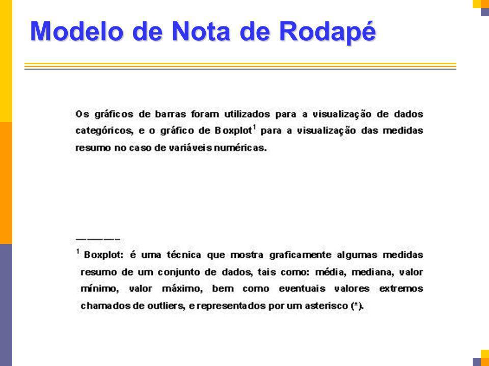 Modelo de Nota de Rodapé