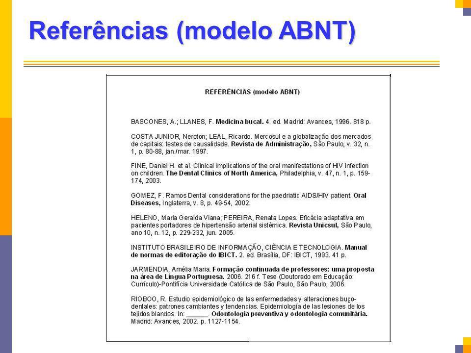 Referências (modelo ABNT)