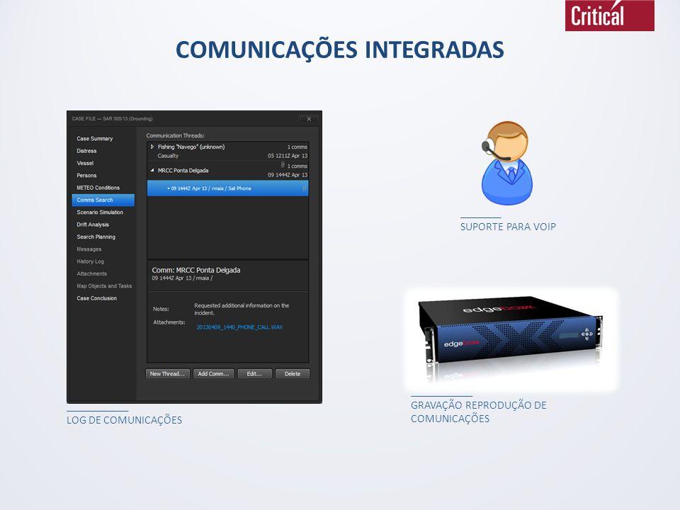 COMUNICAÇÕES INTEGRADAS LOG DE COMUNICAÇÕESGRAVAÇÃO REPRODUÇÃO DE COMUNICAÇÕES SUPORTE PARA VOIP
